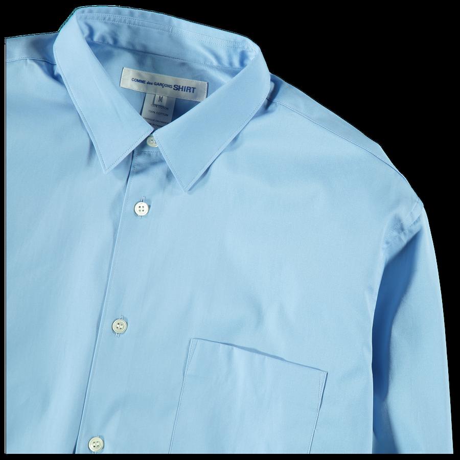 Wide Plain Poplin Shirt