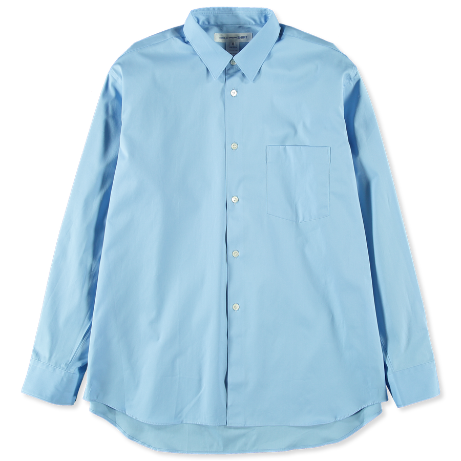 Wide Plain Poplin Shirt