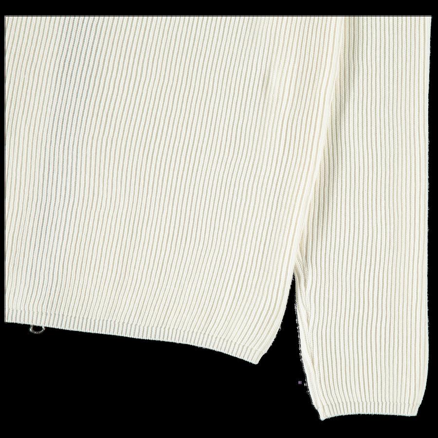 Rib Knit Soft Cotton Zip Sweater - 7215562D8 - V009
