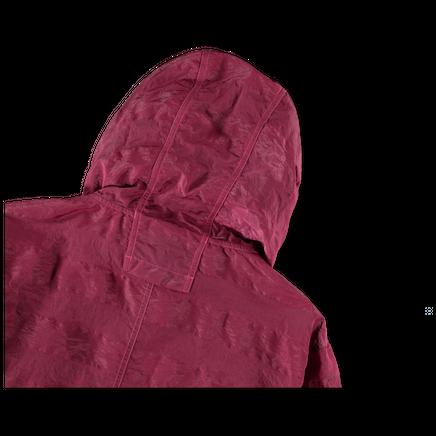 Hooded Striped Nylon Metal Anorak - 721940301 - V0087
