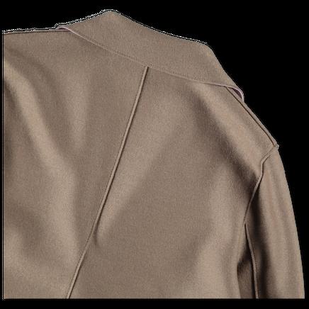 Bicolour Light Pressed Overcoat