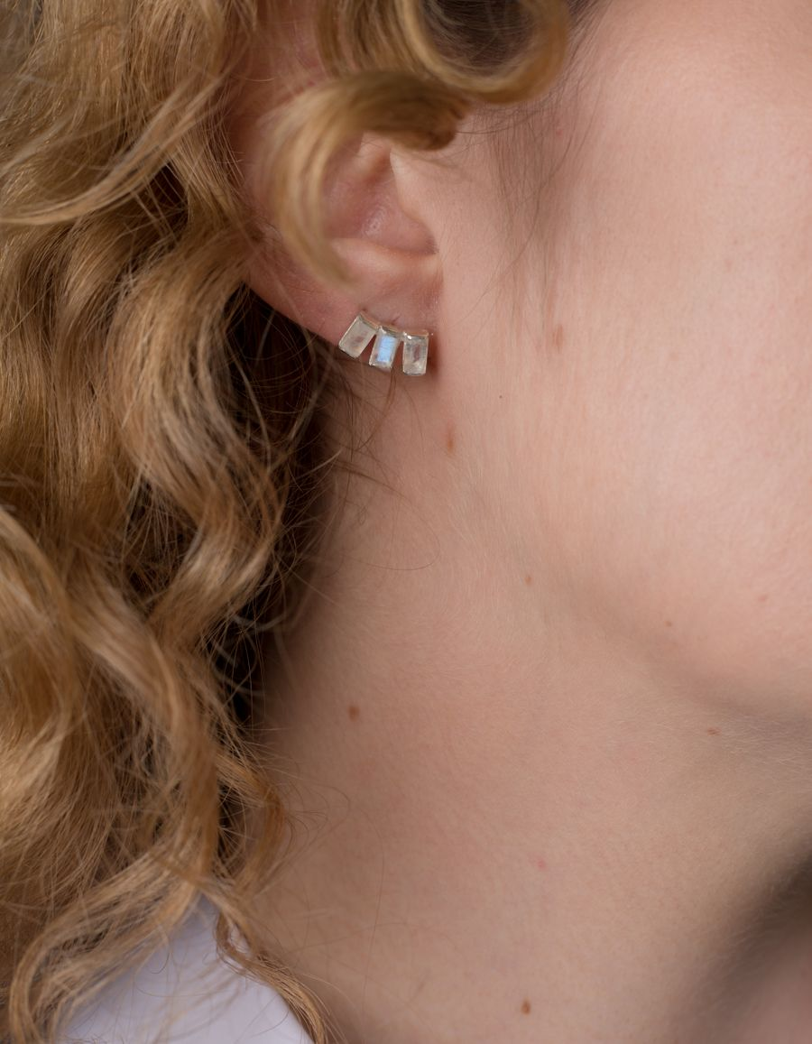 Baguette Stud Earring