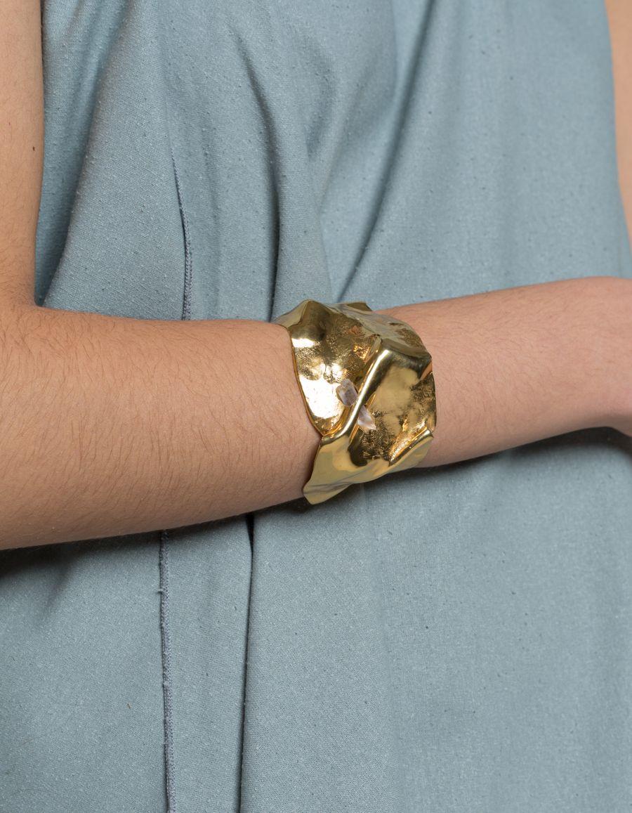 Crystalised Folded Cuff