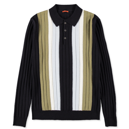 Gabier Tolin Colour Block Knitted L/S Polo