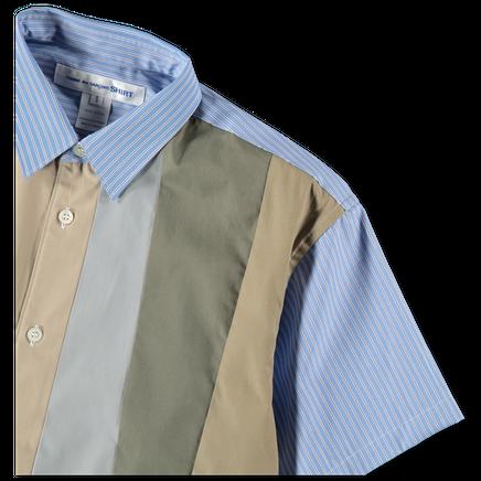 S/S Poplin Mix Shirt