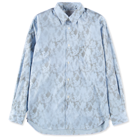 Stripe Hand Lace Print Shirt