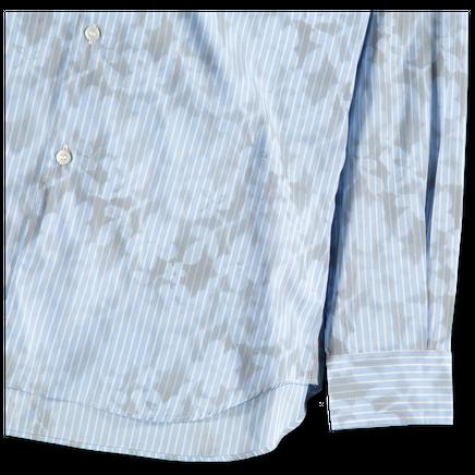 Stripe Hand Lace Print Shirt