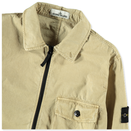 Old Effect Canvas Overshirt - 7215114WN - V0198