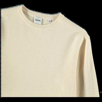 Waffle Knit CN Sweat