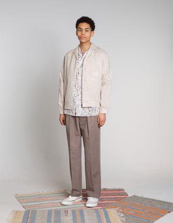 Stripe Shirt Blouson