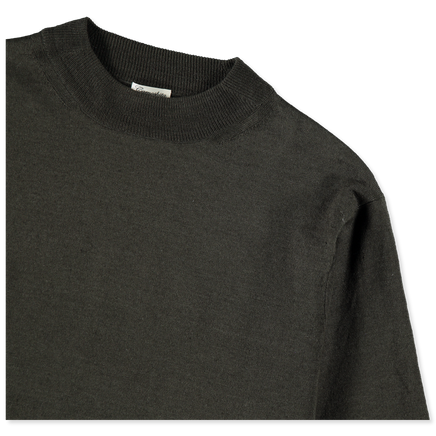 Linen Mock Neck S/S T-Shirt