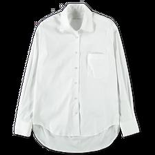 Nitty Gritty Cotton Stretch Shirt - White