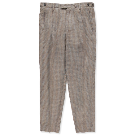 Masco Pie Pleated Linen Trousers