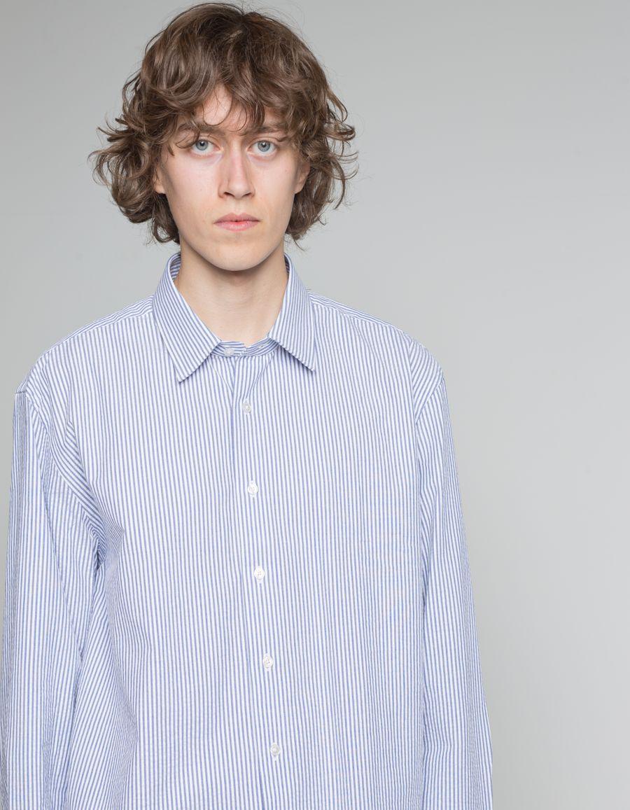 Washed Stripe Seersucker Shirt
