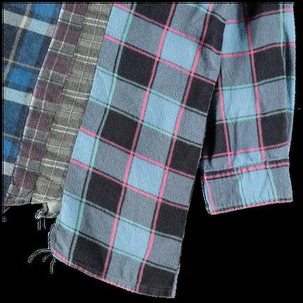 Rebuild Flannel Wide 7 Cuts Shirt