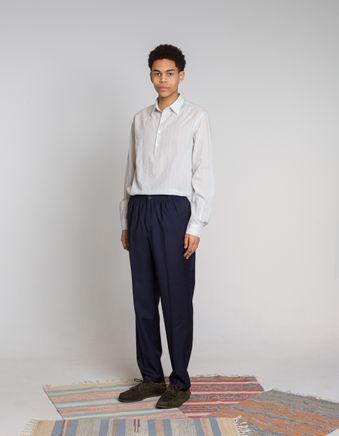 Regular Stretch Waist Wool Trouser