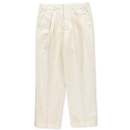 Wide Pleated HB Co/Li Chino