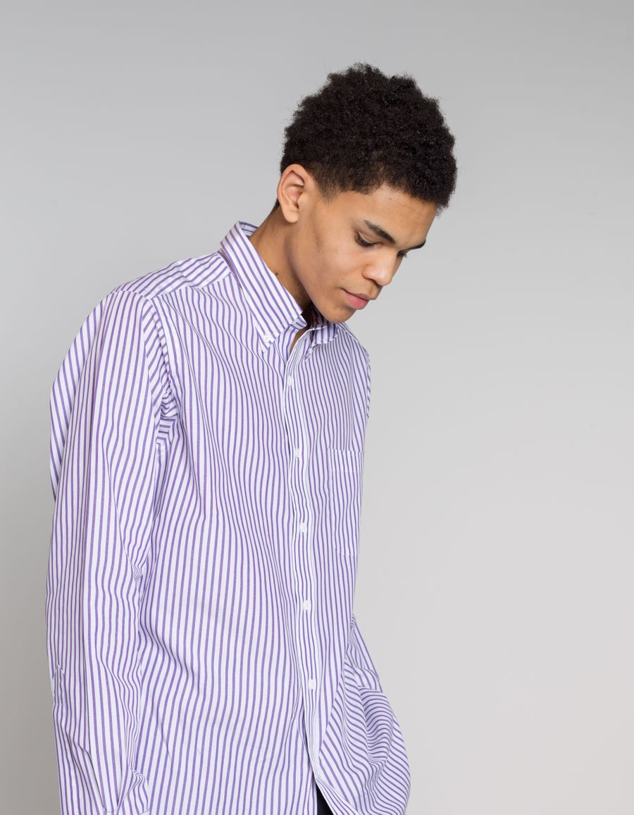 Purple Stripe Shirt