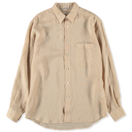 See-Through Linen Shirt
