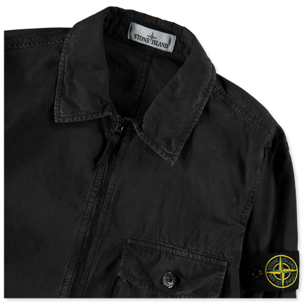 Old Effect Canvas Overshirt - 7215114WN - V0129