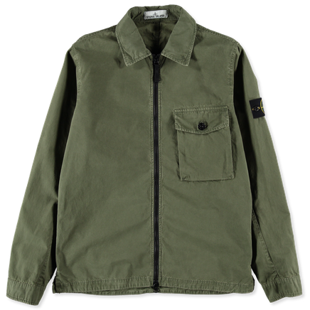 7215114WN V0158 Old Effect Canvas Overshirt
