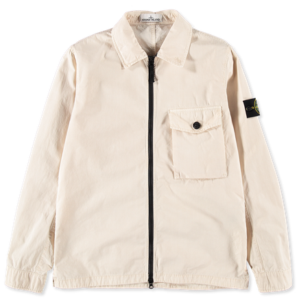 7215114WN V0190 Old Effect Canvas Overshirt