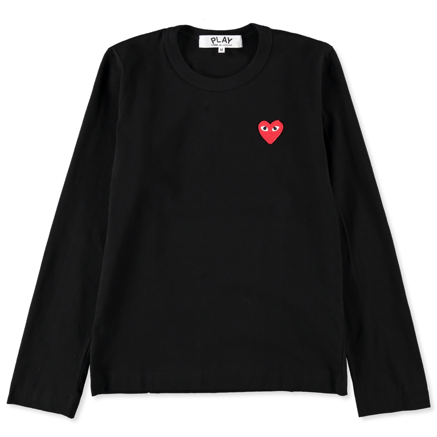 L/S Tee Embroidered Red Heart