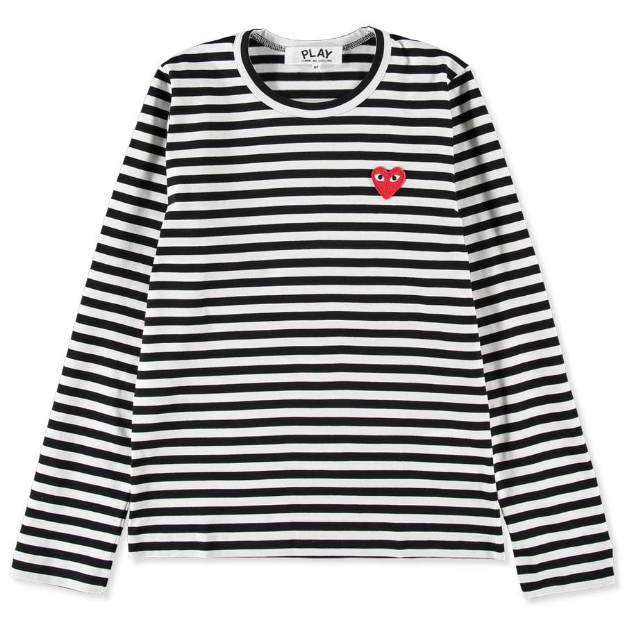 Striped Red Heart L/S