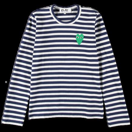 Striped Green Heart L/S