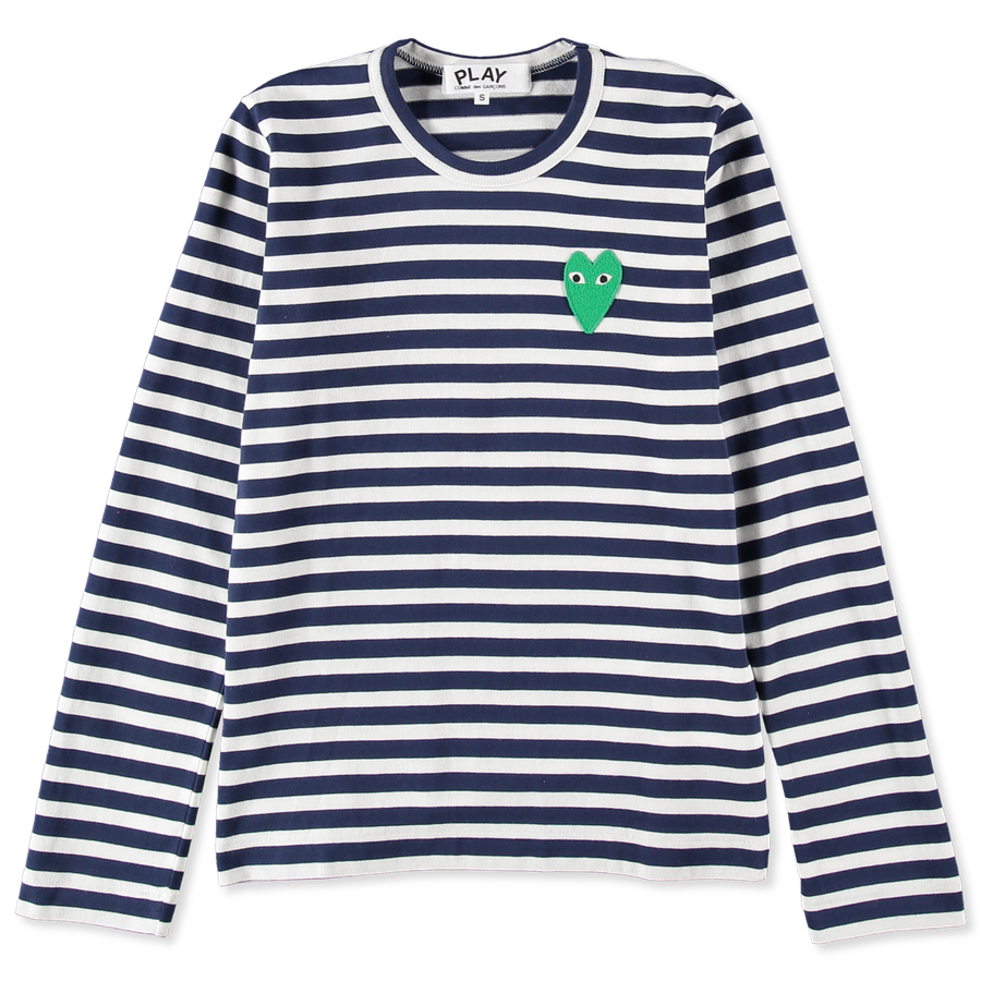 Striped Green Heart L/S