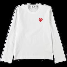 Comme des Garçons PLAY Red Heart L/S - White