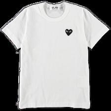 Comme des Garçons PLAY Black Heart S/S - White