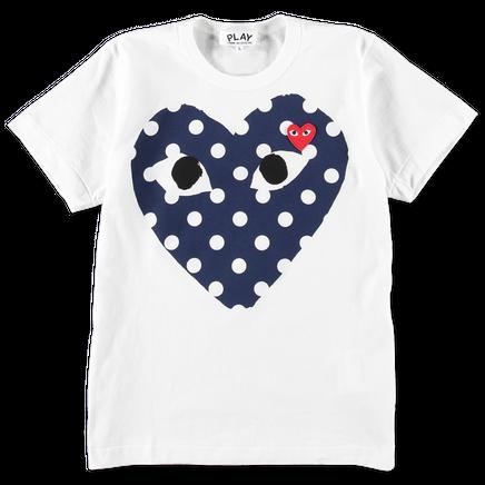 Polka Dot Big Blue Heart Tee