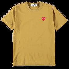 Comme des Garçons PLAY Red Heart Colour T-Shirt - Olive