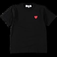 Comme des Garçons PLAY Red Heart T-Shirt - Black