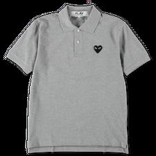 Comme des Garçons PLAY Logo Polo Shirt - Grey