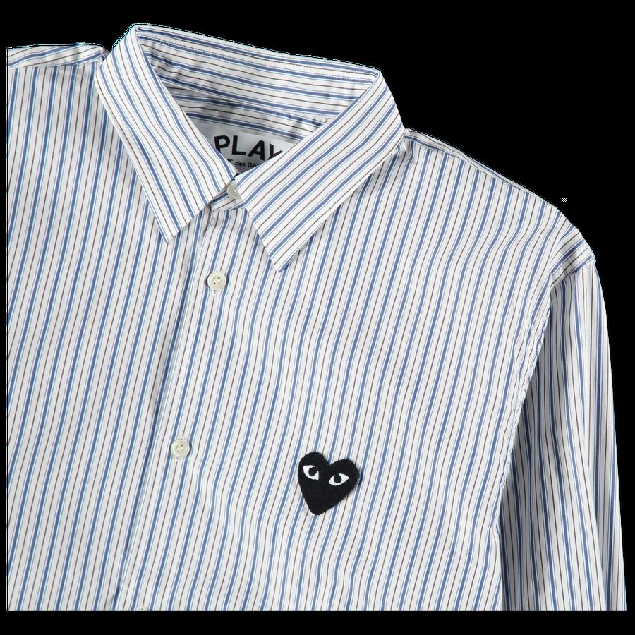 Heart Logo Stripe Shirt
