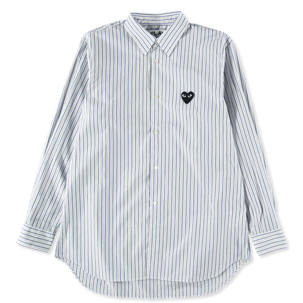 Heart Logo Stripe Shirt