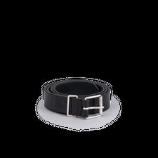 Anderson's Plain Leather Chrome B Belt - Black