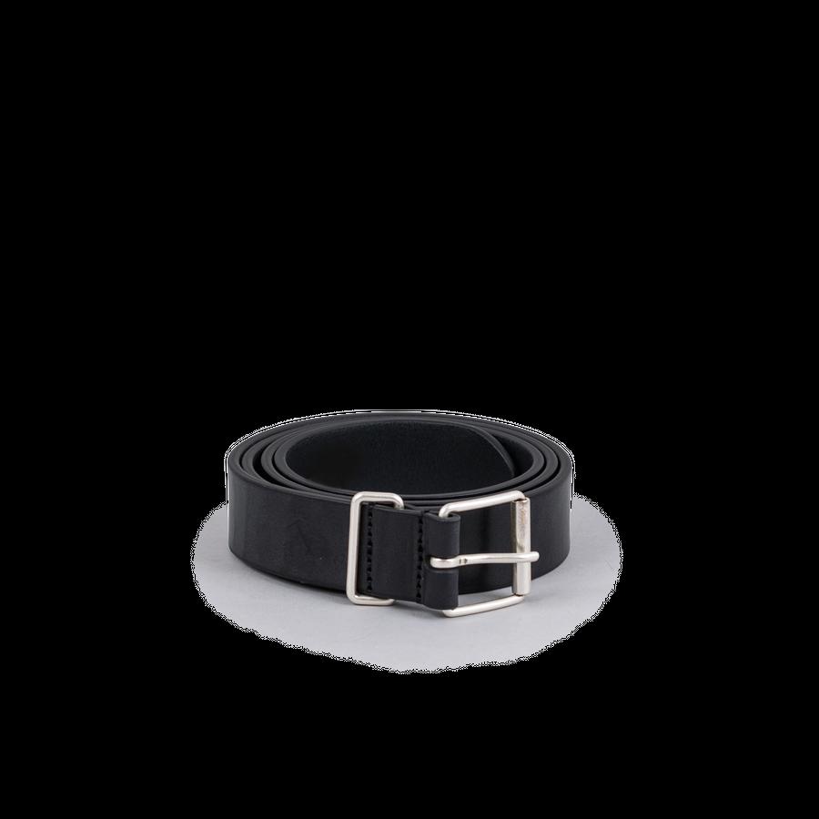 Plain Leather Chrome B Belt