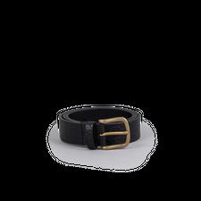 Anderson's Crocodile Pattern Leather Belt - Black