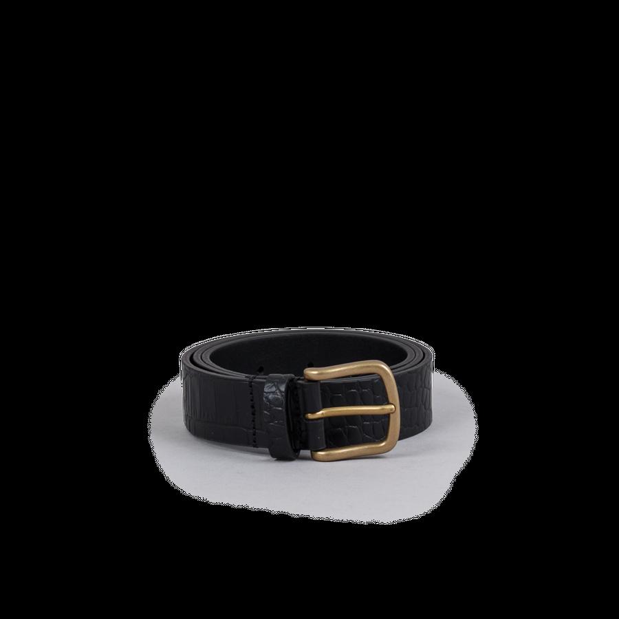 Crocodile Pattern Leather Belt