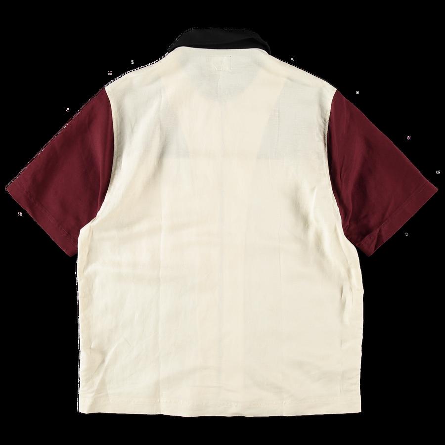 Color Block Zip Work Shirt