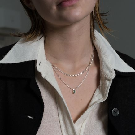 Warped Double Chain Necklace
