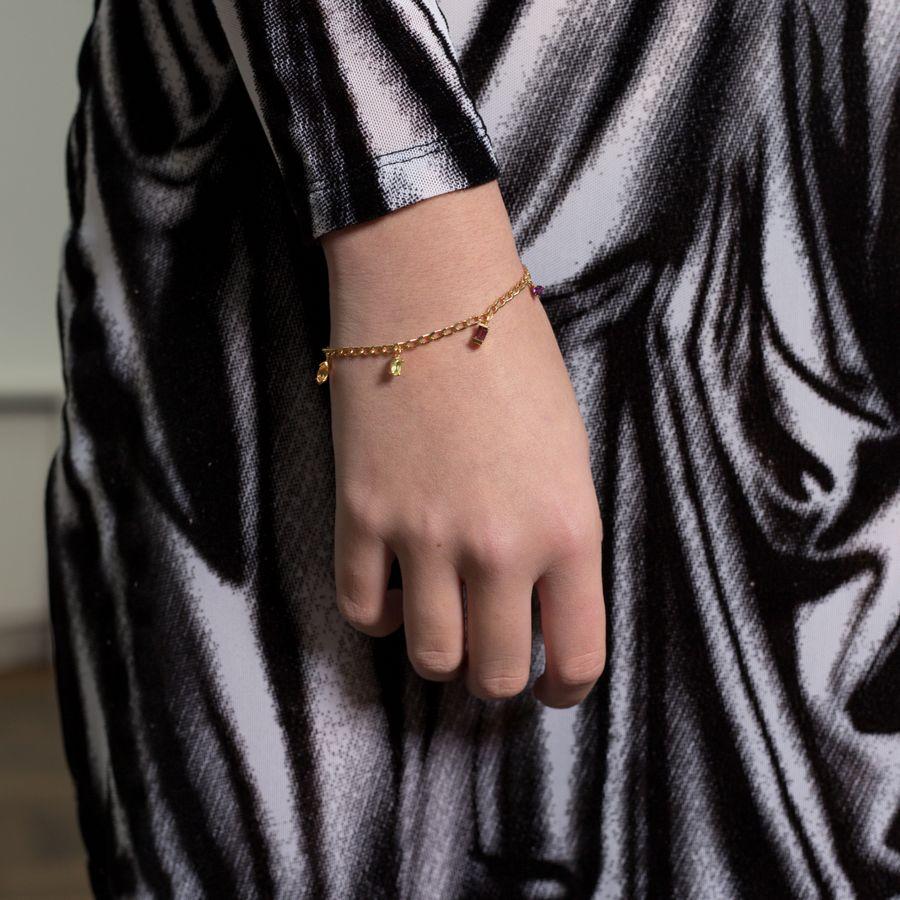 Warped Chain Bracelet
