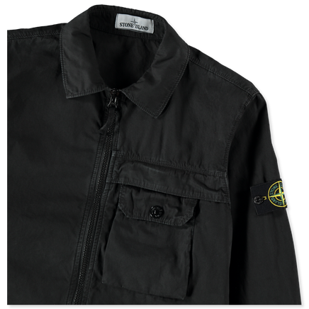 7315107WN V0129 Old Effect GD Zip Overshirt