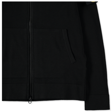 Zip Stretch Wool Hooded Knit - 7315585A1 - V0029