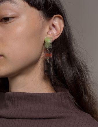Three Crystals Earrings