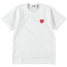 Comme des Garçons PLAY Red Heart S/S - White
