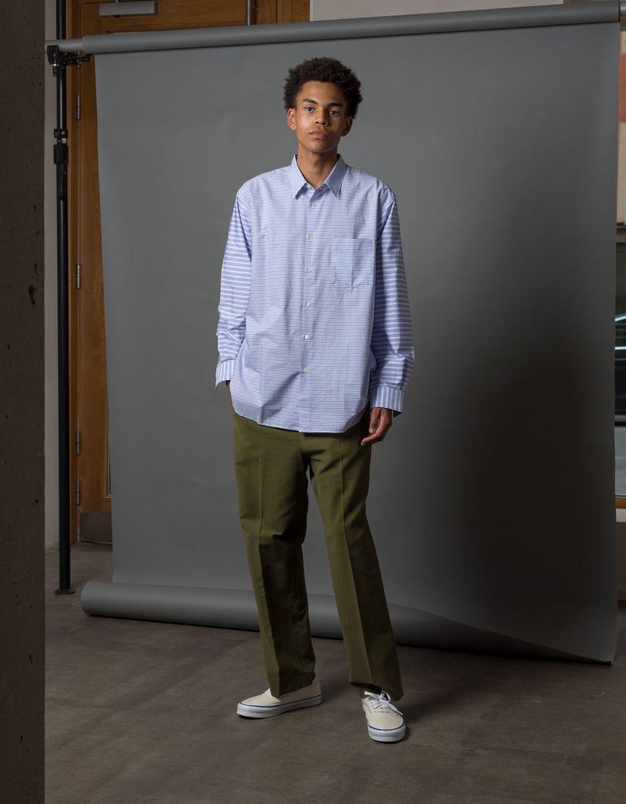Wide Cinch Moleskin Trouser